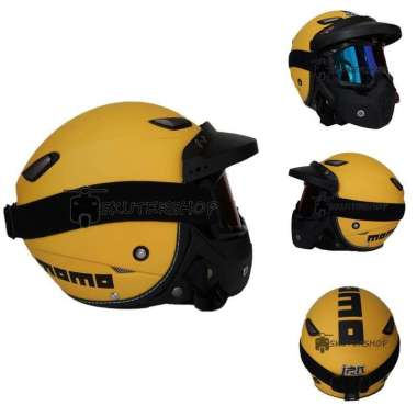 harga Helm JPN Momo Goggle Mask Retro JapStyle Shark Raw Rainbow + Pet L YELLOW Blibli.com