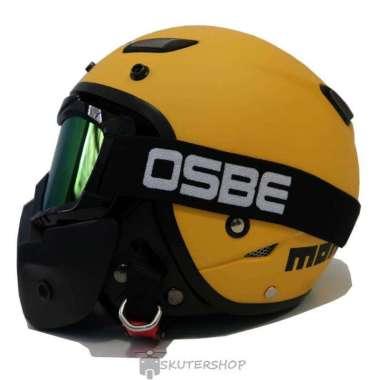 harga Helm JPN Momo Goggle Mask Retro JapStyle Shark Raw Rainbow Doff - OSBE Smoke L YELLOW Blibli.com