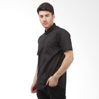 Tendencies Basic Shirt Kemeja Atasan Pria - Black