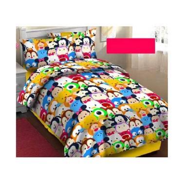 harga KING Bedsheet & Bedcover Arjuna Motif Anak Tsum-Tsum Set Sprei  [Tinggi : 20 cm] Blibli.com