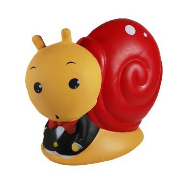 Ivory Jumbo Snail Man Keong Merah Siput Pakai Jas Plus Packaging Squishy