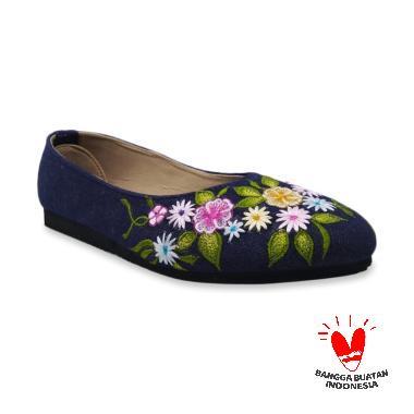 harga Eni Purwa Etnik Bordir Jeans Slip On Sepatu Wanita Blibli.com