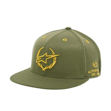 Alpinestars Exec Flatbil Hat Topi Pria - Millitary Green