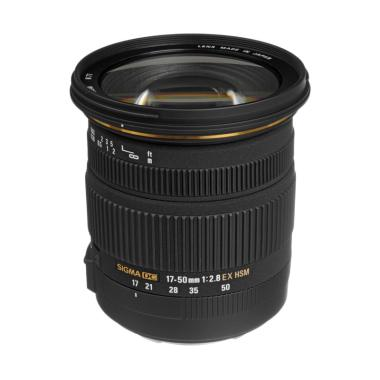 Sigma 17-50mm f/2.8 EX DC OS HSM Lensa Kamera for Canon