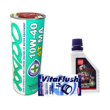 Xado Atomic Oil 4T MA +  Vitaflush 20 mL + Turbo Moto [Set Bundle]