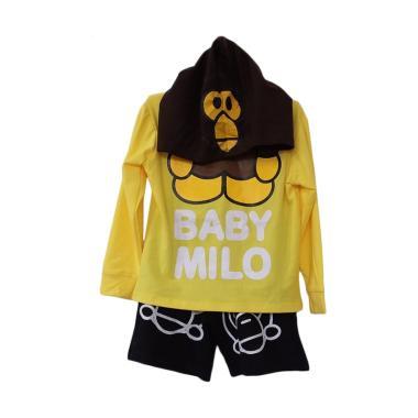 harga Hello Mini Baby Milo Hoodie Set Pants Baju Jumpsuit Anak 5 tahun Yellow Blibli.com