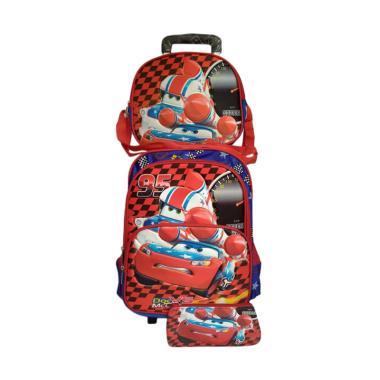 Cars 0930010735  Trolley 3 in 1 Backpack Tas Sekolah Anak