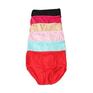 Aily Celana Dalam Wanita Soft Cotton Set 6pcs 3001 Multicolor - Info ... fdda6d864b