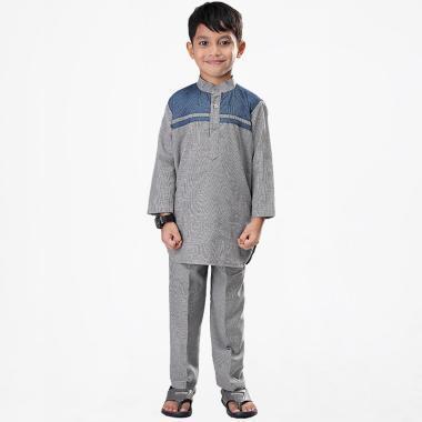 Syaqinah 056 Baju Muslim Anak Laki Laki - Abu 8f6e536e50