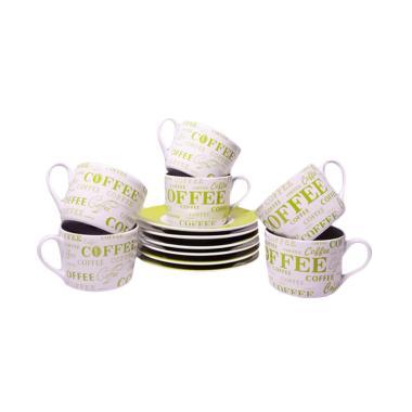 Sierra Motif Coffee Cup & Saucer - Green
