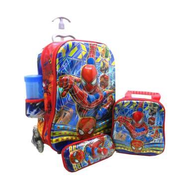 harga DJ Fashion 0712 Spiderman 6D 4in1 Tas Trolley Anak [2 Ruang] Blibli.com