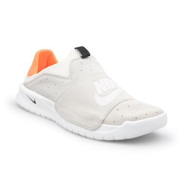 Nike Men Sportswear Benassi Slip Sepatu Olahraga Pria - White Orange   882410-009  e3811645c4