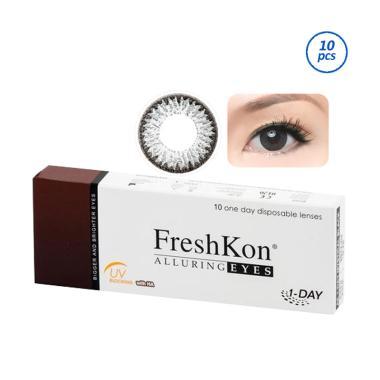 harga FreshKon 1 Day Alluring Softlens [10 pcs] -1.00 Magnetic Grey Blibli.com
