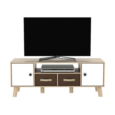 Metropolis Kabinet Tv Sonoma Oak White Arnor Tv120