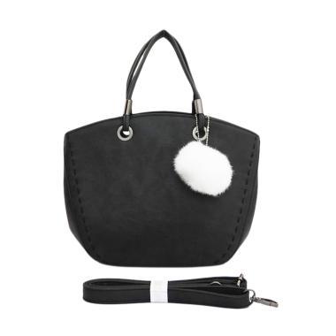 63cda8eef4 Fashion Tas123 Lady Pompom Import Tas Wanita - Hitam