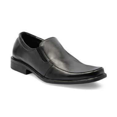 Dr. Kevin Men Dress & Bussiness Formal Shoes Sepatu Pria - Black [13282]