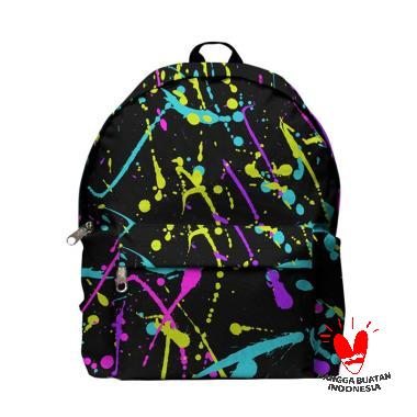 554b63fd0fed Fika Store Paint Splash Art 2 Backpack Tas Ransel Pria