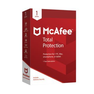 harga McAfee Total Protection Software Antivirus 2019 Code [Original/1 Device /1 Years] Blibli.com