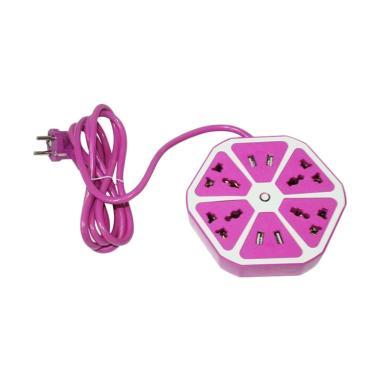 Best LMC00311F Hexagon-Fruit Socket Stop Kontak with USB [4 USB]