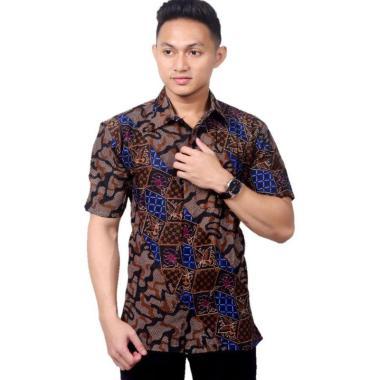 Batik Prass Motif Abri Kemeja Batik Lengan Pendek Pria