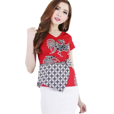 Dijaminmurah Evercloth Digo Top Jumbo Atasan Batik Jumbo Blouse Wanita