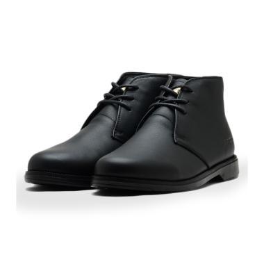 Brodo Thompson Black Sole Parang Jati Sepatu Formal Pria