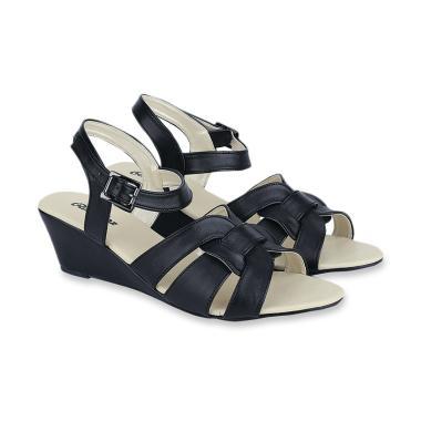Raindoz RSP 288 Zahratu Sepatu Wedges Perempuan - Black