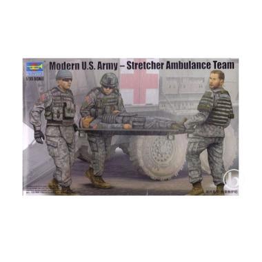 Pre Order - Trumpeter 00430 Modern U S Army Stretcher Ambulance Team Model  Kit [1:35]