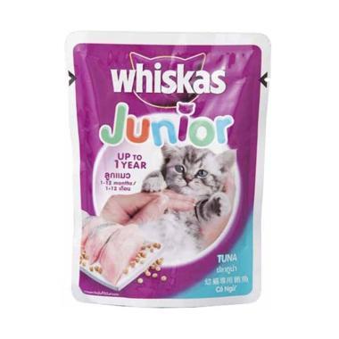 Whiskas Junior Tuna Makanan Kucing [85 g]