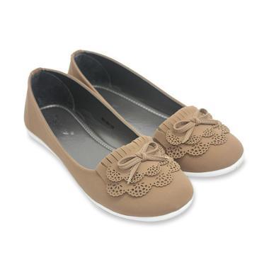 Dr Kevin 551-001 Slip On Women Flat Shoes - Mocca