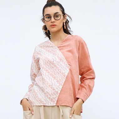 Cottonink Melati Atasan Batik Wanita - Coral