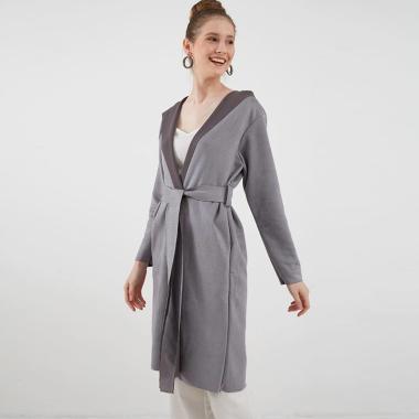 Berrybenka Melani Hoodie Outerwear Wanita - Grey
