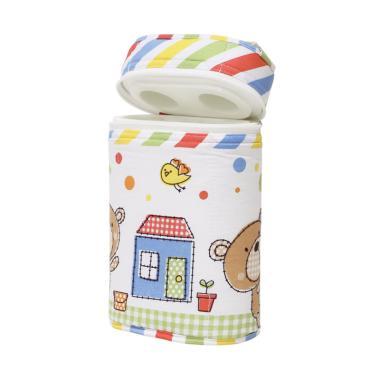 Elegance Polka Dot Bears Tas Botol Susu - Multicolor