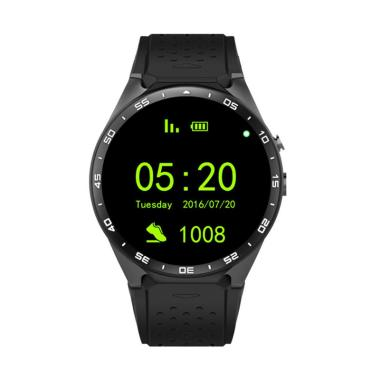 harga Bluelans KW88 Heart Rate Monitor Pedometer Bluetooth 3G Call Smart Watch for Android Blibli.com