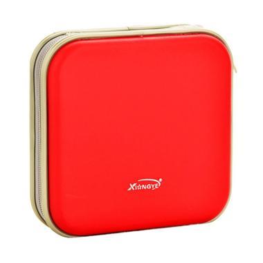 harga Bluelans Square Carry Disc Storage Case - Red [40 CD/DVD] Blibli.com