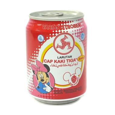 harga Cap Kaki Tiga Strawberry Minuman Larutan Anak [250 mL/ Kemasan Can] Blibli.com