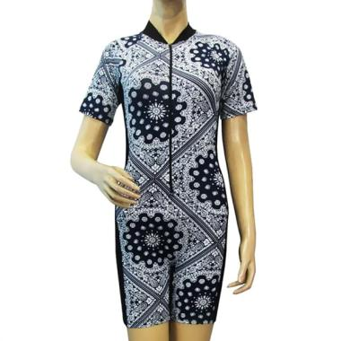 Rainy Collections Model Diving Pendek Motif Batik Baju Renang Wanita