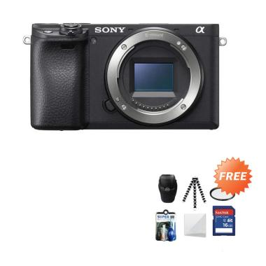 harga SONY Alpha A6400 Kamera Mirrorless [Body Only] + Free Screenguard Terpasang + SDHC 16GB + Tas Universal + Gorillapod + Filter + Cleaning Kit Blibli.com