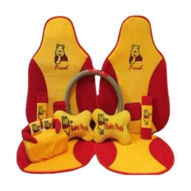 C2N Variasi Mobil Motif Baby Pooh 5in1 Set Aksesoris Interior Mobil for Fiesta