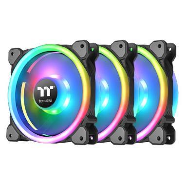 harga Thermaltake Riing Trio 14 RGB Radiator Fan [Premium Edition/ 3 Fan Pack] Multi Color Blibli.com