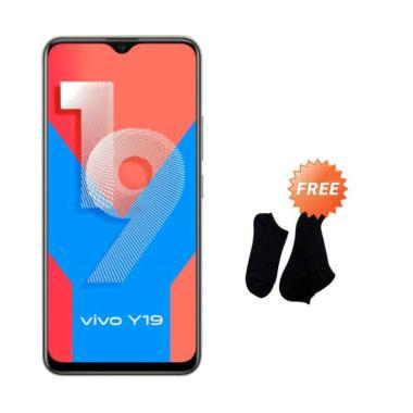 harga Vivo Y19 Smartphone [128 GB / 6 GB] + Free Kaos Kaki 7 Pasang BLACK Blibli.com