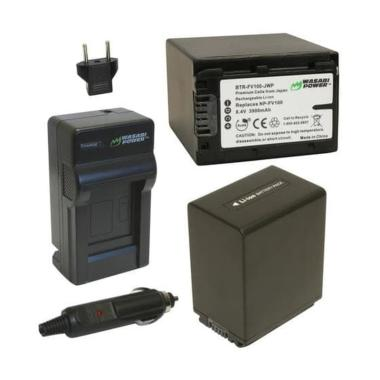 harga Wasabi Power W37 Battery & Charger for Sony NP-FV100 [2 Pack] Blibli.com