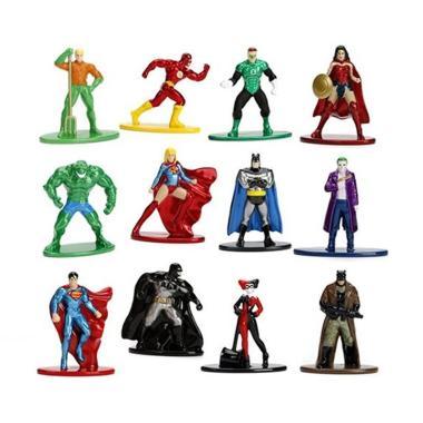 Paket Bundling 5 pcs Jada Nano Metalfigs DC Comics Assorment Action Figure [Random 5 Figure]