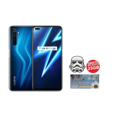 harga realme 6 Pro Smartphone [8GB/ 128GB] - Lightning Blue + Voucher MAP [Rp. 100.000] + Indosat Stater Pack [25 GB] + Star Wars Stormtrooper Cable Bites Blibli.com