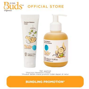 harga Buds Precious Newborn Head To Toe Cleanser [250 mL] & Precious Newborn Cream [75 mL/ Set Bundle] Blibli.com