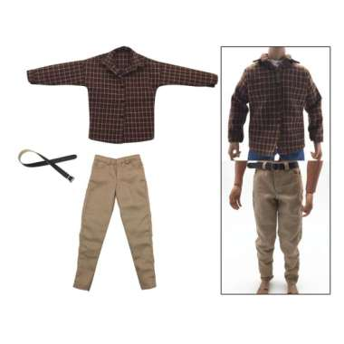 harga OEM 1/6 Male Khaki Pants + Plaid Shirt Clothes Costume Soldier Action Figure Accessory Clothes Blibli.com