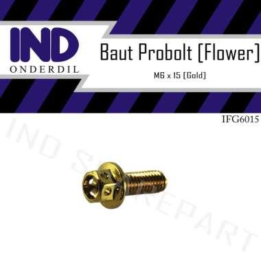 harga IND Onderdil M6x15-6x15-6x15 Baut Probolt Pro Bolt Flower [Kunci 8-K8] Blibli.com