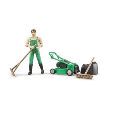 harga Bruder 62103 - bworld Gardener with lawn mower and equipment Blibli.com