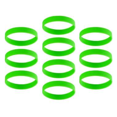 harga OEM Blank Bracelet Silicone Rubber Wristbands Adult Kids Outdoor Ornaments [10 pcs] Green Blibli.com