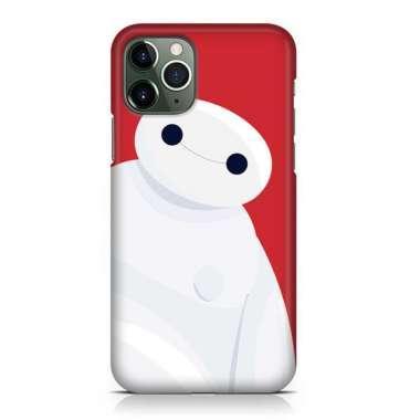 Indocustomcase Big Hero 6 Baymax 5 Custom Hard Case Cover For iPhone 12 Pro Max 002 Red Apple iPhone 12 Pro Max (6.7 inch)